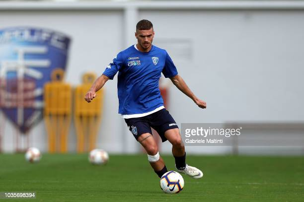 Joel Untersee of Empoli FC in action during training session on September 18 2018 in Empoli Italy