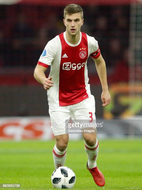 Joel Veltman of Ajax during the Dutch Eredivisie match between Ajax v Excelsior at the Johan Cruijff Arena on December 14 2017 in Amsterdam...
