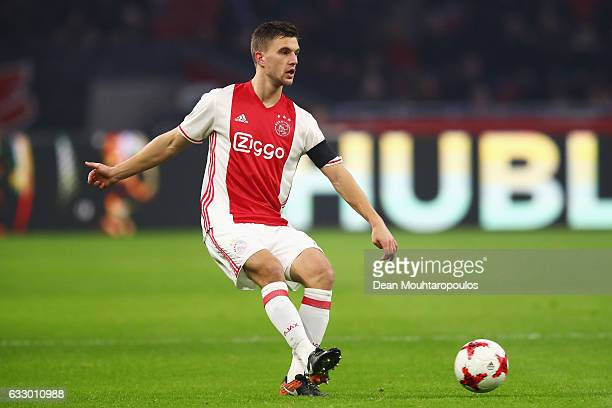 Joel Veltman of Ajax in action during the Eredivisie match between Ajax Amsterdam and ADO Den Haag held at Amsterdam Arena on January 29 2017 in...
