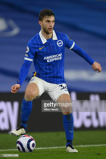 Joel Veltman of Brighton & Hove Albion in action during the Premier League match between Brighton & Hove Albion and Crystal Palace at American...