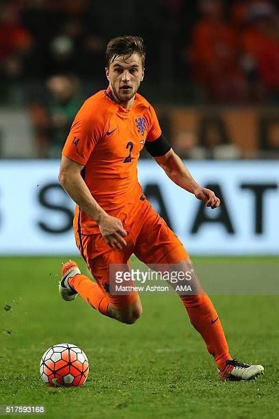 Joel Veltman of the Netherlands in action during the International Friendly match between Netherlands and France at Amsterdam Arena on March 25 2016...