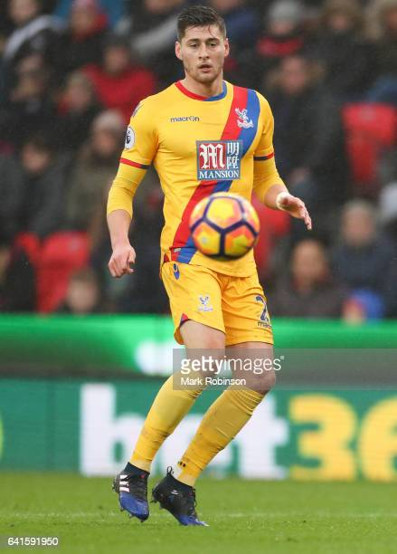 Joel Ward of Crystal Palace during the Premier League match between Stoke City and Crystal Palace at Bet365 Stadium on February 11 2017 in Stoke on...