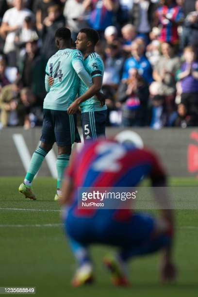 Joel Ward of Crystal Palace gestures during the Premier League match between Crystal Palace and Leicester City at Selhurst Park, London on Sunday 3rd...