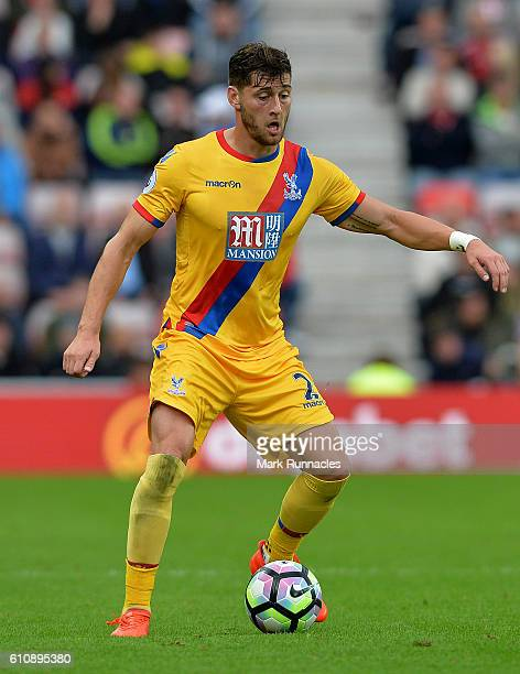 Joel Ward of Crystal Palace in action during the Premier League match between Sunderland FC and Crystal Palace FC at Stadium of Light on September 24...