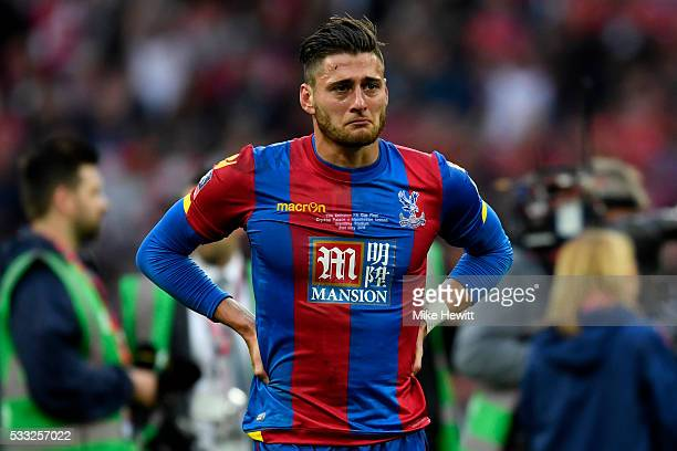 Joel Ward of Crystal Palace show his emotions in defeat after The Emirates FA Cup Final match between Manchester United and Crystal Palace at Wembley...
