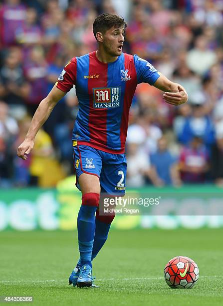 Joel Ward of Palce in action during the Barclays Premier League match between Crystal Palace and Arsenal on August 16 2015 in London United Kingdom