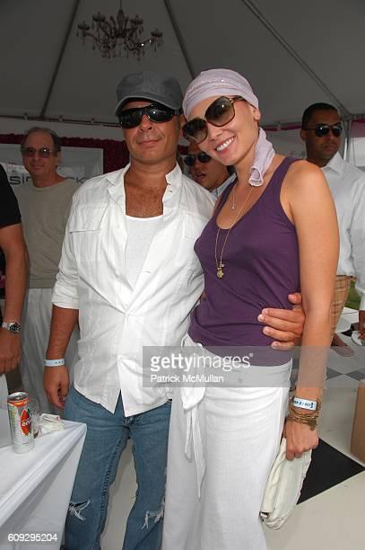 Joel Warren and Joanna Christensen attend TMobile Sidekick Lounge at Alice Olivia's Week 2 of MercedesBenz Polo at Jet One Jets Field on July 28 2007...