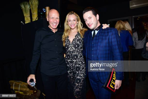 Joel Wernick Consuelo Vanderbilt Costin and Dustin Lujan attend Tracy Stern hosts holiday party at private townhouse in Hell's Kitchen at Private...