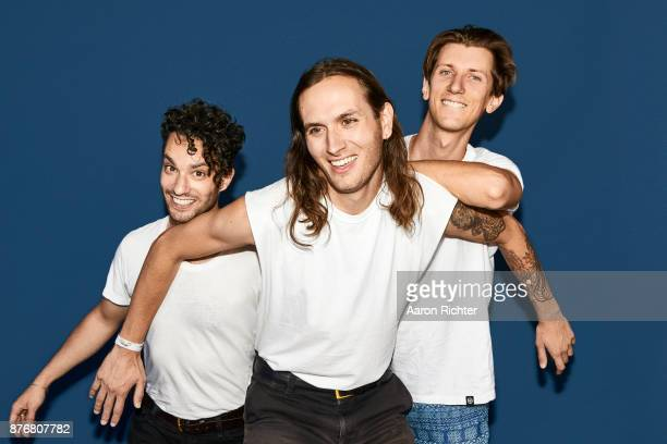 Joel Wittenberg Jake Beal and Kevin Pariso of Surf Rock are photographed for Billboard Magazine on August 20 2017 at the Billboard Hot 100 Music...
