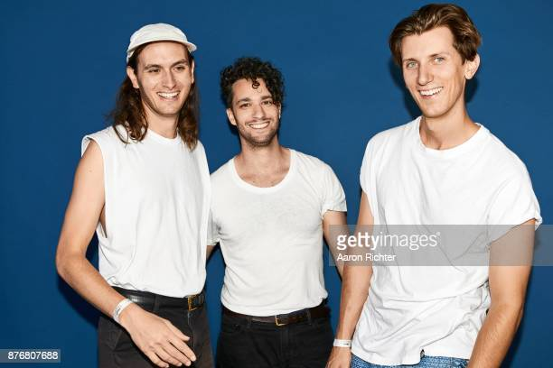 Joel Wittenberg Jake Beal and Kevin Pariso of Surf Rock is Dead are photographed for Billboard Magazine on August 20 2017 at the Billboard Hot 100...