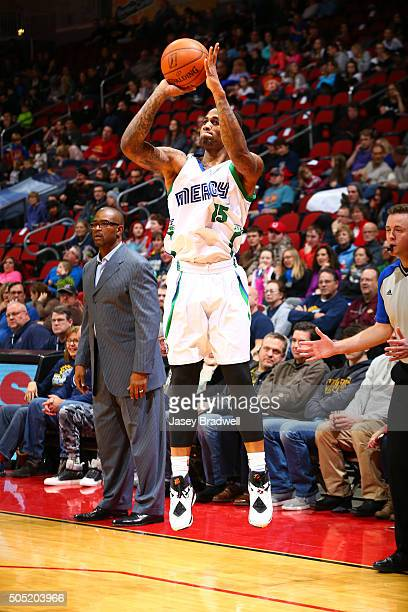 Joel Wright of the Iowa Energy shoots the ball against the Grand Rapids Drive in an NBA DLeague game on January 15 2016 at the Wells Fargo Arena in...