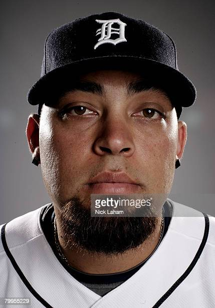 Joel Zumaya of the Detroit Tigers poses for a portrait during Photo Day on February 23 2008 at Joker Marchant Stadium in Lakeland Florida