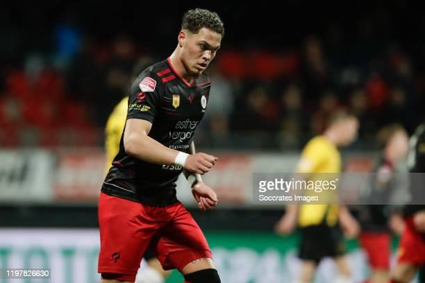 Joel Zwarts of Excelsior Rotterdam during the Dutch Keuken Kampioen Divisie match between Excelsior v NAC Breda at the Van Donge & De Roo Stadium on...