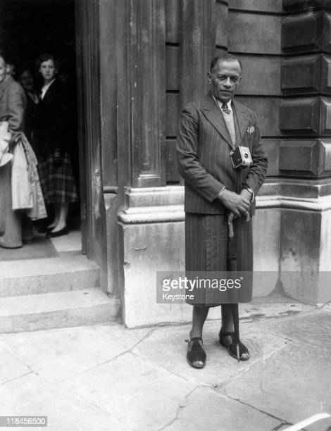 Joeli Kete Ravai Roko Tui of the province of Tailevue Fiji wearing a wrapover skirt and opentoe sandals as he visits Bow Street Magistrates Court...