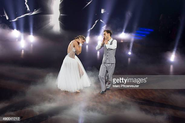 Joelina Drews and Marc Aurel Zeeb perform onstage during the third show of the television competition 'Stepping Out' at the Coloneum on September 25...
