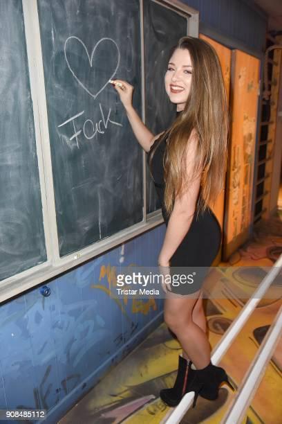 Joelina Drews attends the 'Fack ju Goehte - Se Mjusicael' Musical Premiere on January 21, 2018 in Munich, Germany.