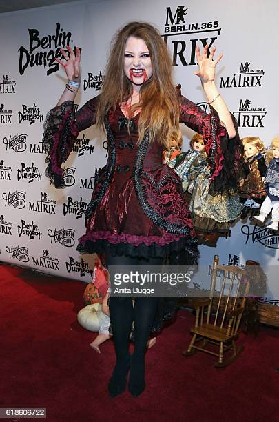 Joelina Drews attends the Halloween party by Natascha Ochsenknecht at Berlin Dungeon on October 27 2016 in Berlin Germany
