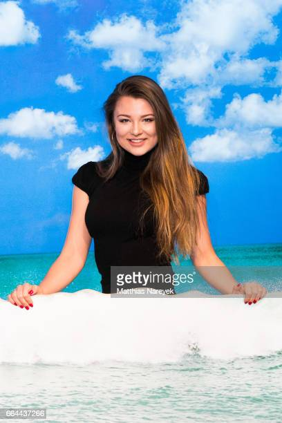 Joelina Drews attends the Zac Efron Wax Figure is unveiling at Madame Tussauds on April 4 2017 in Berlin Germany