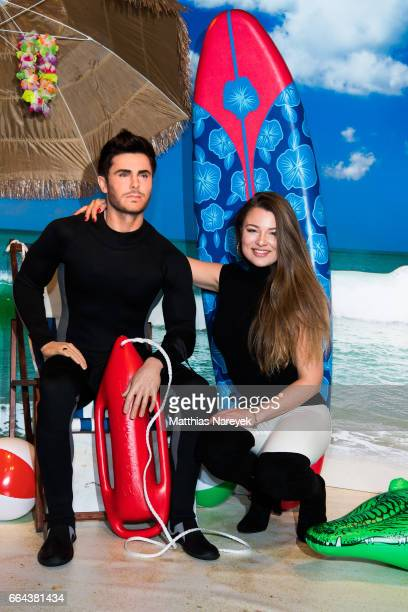 Joelina Drews attends the Zac Efron Wax Figure unveiling at Madame Tussauds on April 4 2017 in Berlin Germany