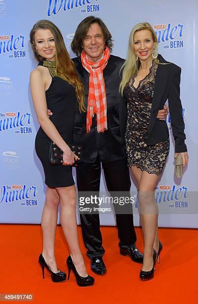 Joelina Drews, Juergen Drews and Ramona Drews attend the 'Das Wunder von Bern' musical premiere on November 23, 2014 in Hamburg, Germany.
