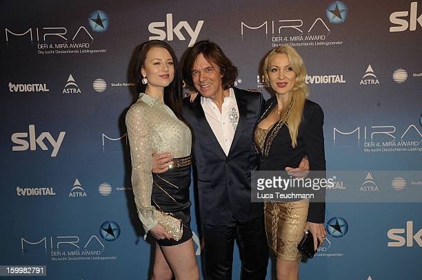Joelina Drews; Juergen Drews and Ramona Drews attends the Mira Award 2013 at Station on January 24, 2013 in Berlin, Germany.