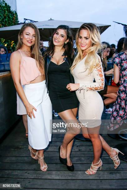 Joelina Drews TV actress Tanja Tischewitsch and TV actress Angelina Heger during the Urban Decay Naked Heat Launch at House of weekend on August 10...