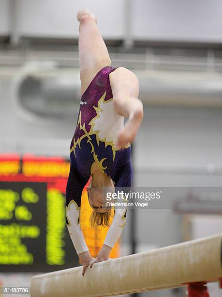 Joeline Moebius of Germany in action during the women inividual all rounder competition of the German Artistic Gymnastics Championships at the...