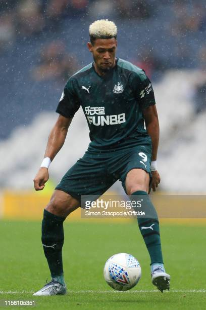 Joelinton of Newcastle in action during the PreSeason Friendly match between Preston North End and Newcastle United at Deepdale on July 27 2019 in...