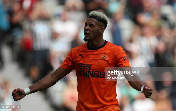 Joelinton of Newcastle United celebrates scoring the opening goal during the PreSeason Friendly match between Newcastle United and AS Saint Etienne...