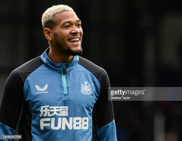 Joelinton of Newcastle United FC during the Premier League match between Crystal Palace and Newcastle United at Selhurst Park on October 23, 2021 in...