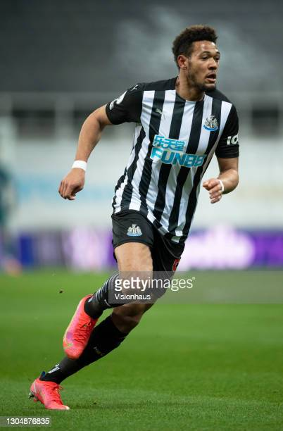 Joelinton of Newcastle United in action during the Premier League match between Newcastle United and Wolverhampton Wanderers at St. James Park on...
