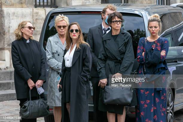 Joelle Bercot Muriel Robin Victoria Bedos Anne Le Nen and members of the family attend scriptwriter standup comedian and actor Guy Bedos' funeral at...