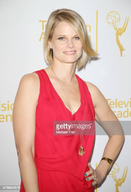 """Joelle Carter arrives at The Television Academy presents An Evening with """"Justified"""" held at Leonard H. Goldenson Theatre on March 19, 2014 in North..."""