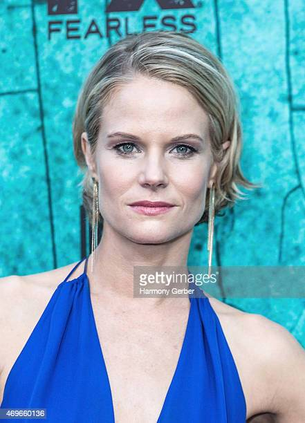 Joelle Carter attends the Premiere Of FX's Justified Series Finale at ArcLight Cinemas Cinerama Dome on April 13 2015 in Hollywood California