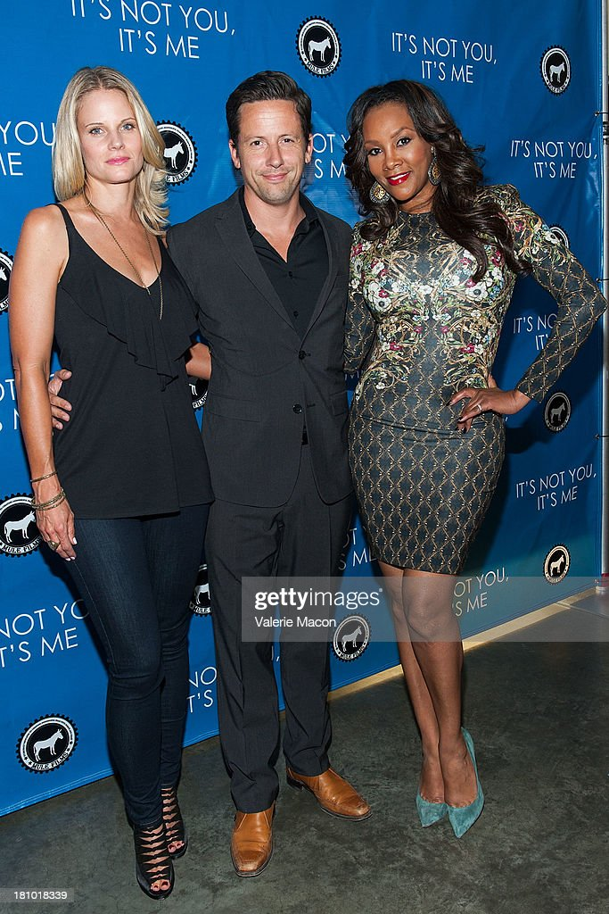 Joelle Carter, Ross McCall and Vivica A. Fox arrives at the premiere of 'It's Not You, It's Me' at Downtown Independent Theatre on September 18, 2013 in Los Angeles, California.