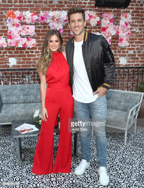 Joelle Fletcher and Jordan Rodgers attend Fletch X Joelle Fletcher Launch Party at Beauty Essex on June 27 2018 in Los Angeles California
