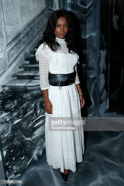 Joelle Harris attends the Christian Dior Haute Couture Fall/Winter 2019 2020 show as part of Paris Fashion Week on July 01, 2019 in Paris, France.