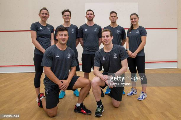 Joelle King Zac Millar Paul Coll Lance Beddoes Campbell Grayson Evan Williams Amanda LandersMurphy during the New Zealand Commonwealth Games Squash...