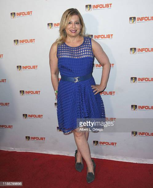 Joelle Sellner attends InfoListcom's PreComicCon Bash held at Wisdome Immersive Art Park on July 11 2019 in Los Angeles California