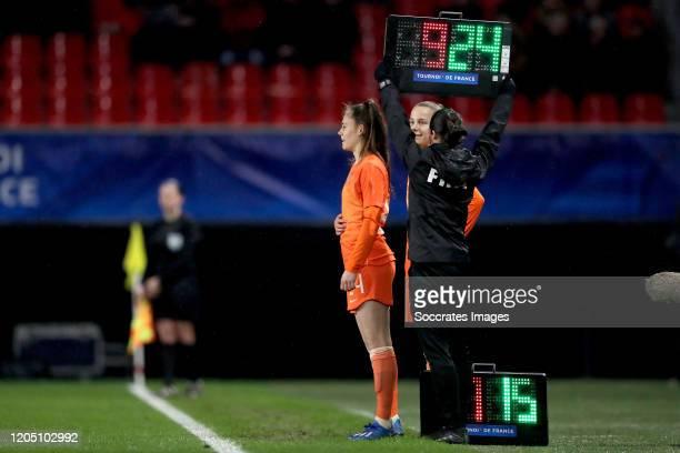 Joelle Smits of Holland Women Lynn Wilms of Holland Women during the International Friendly Women match between Holland v Brazil at the Stade du...