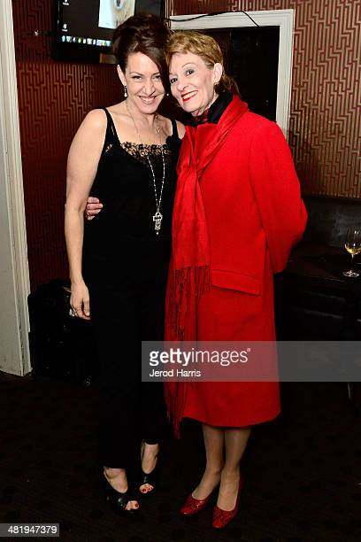 Joely Fisher and Alexandra Denman attend an evening with Azzedine Downes President and CEO of the International Fund for Animal Welfare at Porta Via...