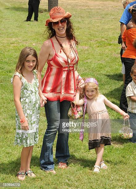 Joely Fisher and children arrive at the 21st Annual A Time For Heroes Celebrity Picnic sponsored by Disney to benefit The Elizabeth Glaser Pediatric...