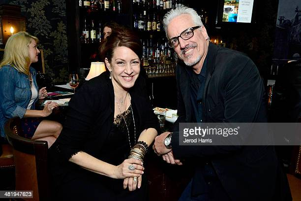 Joely Fisher and Christopher Duddy attend an evening with Azzedine Downes President and CEO of the International Fund for Animal Welfare at Porta Via...