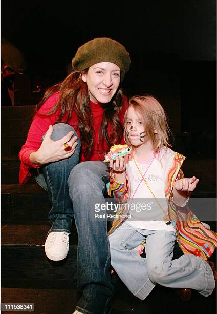 Joely Fisher and daughter Skyler during Sony Pictures Entertainment LINKS Volunteer Group Annual Children's Holiday Party at Sony Pictures...