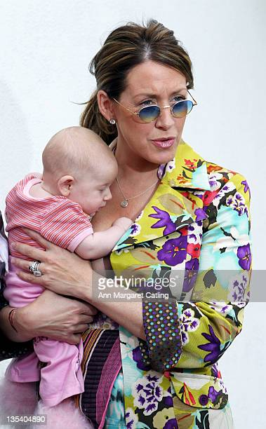 Joely Fisher and Daughter True during HOT MOM'S CLUB Book Launch Party at Nana's Garden in Los Angeles California United States