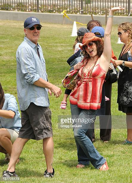 Joely Fisher and husband arrive at the 21st Annual A Time For Heroes Celebrity Picnic sponsored by Disney to benefit The Elizabeth Glaser Pediatric...