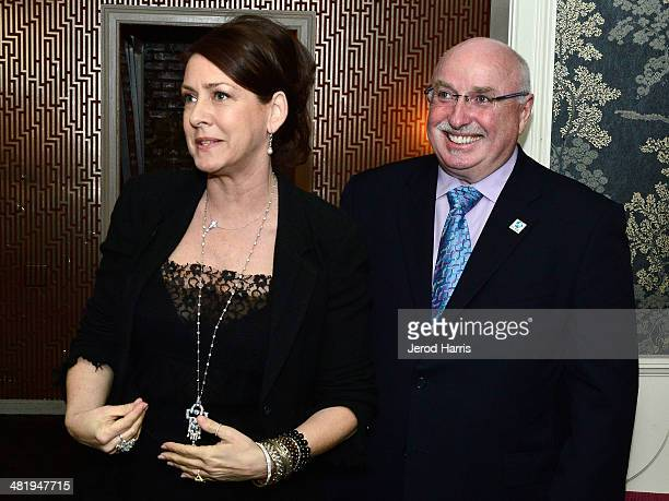 Joely Fisher and President and CEO of IFAW Azzedine Downes attend an evening with Azzedine Downes President and CEO of the International Fund for...