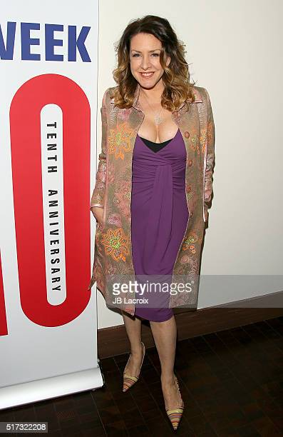 Joely Fisher attends a media preview for 'Murder Lust and Madness' on March 24 2016 in Beverly Hills California