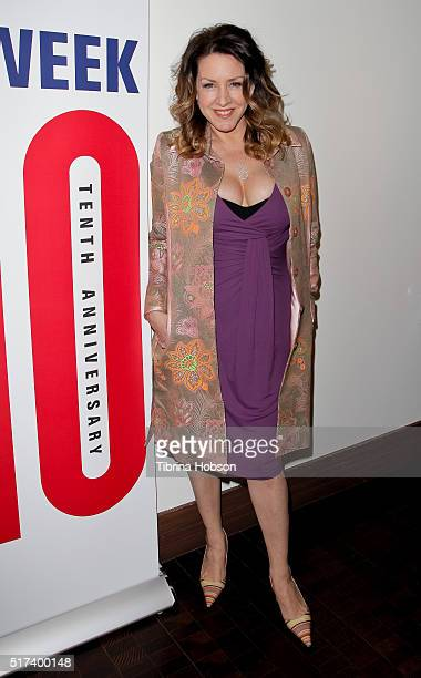 Joely Fisher attends the media preview for 'Murder Lust And Madness' at Wallis Annenberg Center for the Performing Arts on March 24 2016 in Beverly...