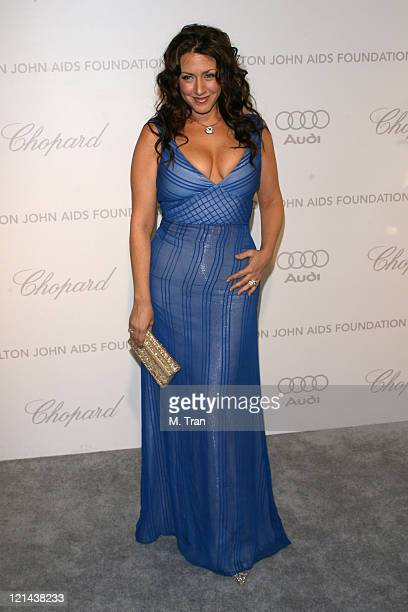 Joely Fisher during 15th Annual Elton John AIDS Foundation Oscar Party at Pacific Design Center in Los Angeles California United States